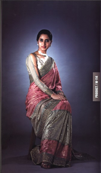 A sari made with cupro