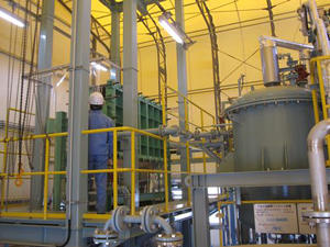 The large-scale alkaline water electrolysis plant