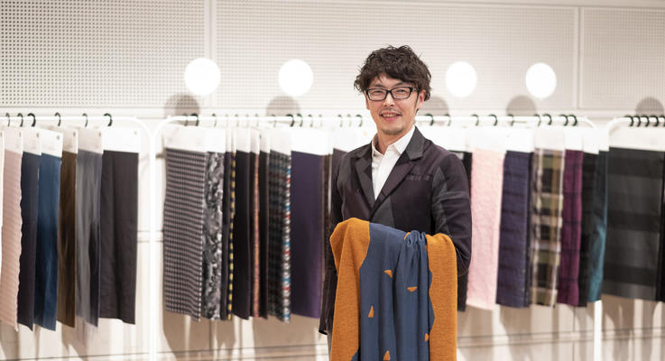 Managing Director Kentaro Suzuki at Aobun Textile Co., Ltd. speaks about his will to protect the historical Yonezawa production area by