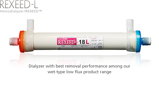 Hemodialyzer / REXEED-L: Dialyzer with best removal performance among our wet-type low flux product range.